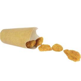 Copo Anti-gordura efeito Kraft com Tampa 14Oz/420ml (50 Uds)