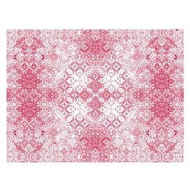 "Toalha Papel Cortado Mesa 1x1m ""Mozaik"" Bordô 40g/m² (400 Uds)"