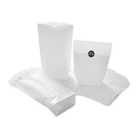 Saco de Papel Cilíndrico com Base Hexagonal Branco 14x19cm (1000 Uds)