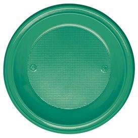 Prato Plastico PS Fundo Verde Ø220mm (600 Unidades)