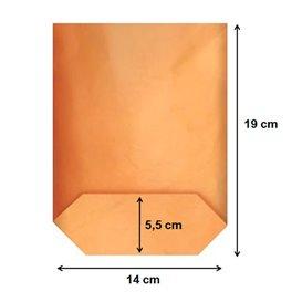 Saco de Papel Cilíndrico com Base Hexagonal Kraft 14x19cm (50 Uds)