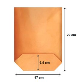 Saco de Papel Cilíndrico com Base Hexagonal Kraft 17x22cm (1000 Uds)