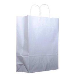Saco Papel Kraft Branco Asas100g 22+11x27cm (25 Uds)