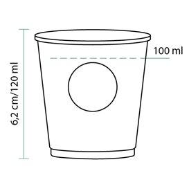 """Copo Cartão """"Specialty to go"""" 4 Oz/120ml Ø6,2cm (80Uds)"""