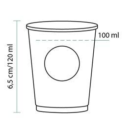 Copo de Cartão BioWare PLA 4 Oz/120ml Ø6,2cm (80 Uds)