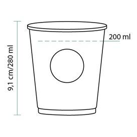 Copo de Cartão Cupmatic 9Oz/280ml Ø8,0cm (50 Uds)