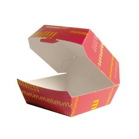 Caja Hamburguesa Cartoncillo 14x13x7,0cm  (260 Uds)