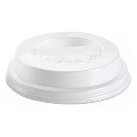 Tampa Perfurada para Copo 7Oz Branca Ø7,2cm (100 Uds)