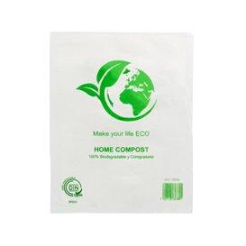 Saco Plastico Mercado 100% Biodegradável 16x24cm (100 Uds)