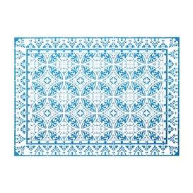 "Toalhete Papel Mesa 30x40cm ""Alhambra"" Turquesa 50g/m² (1000 Uds)"