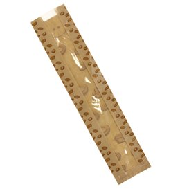 "Saco de Papel Kraft Janela ""Panes"" 10+5x55cm (125 Uds)"