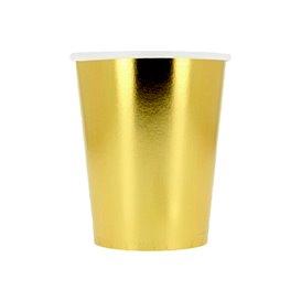 """Copos de Cartão 9Oz/240 ml Ouro """"Party"""" (300 Uds)"""