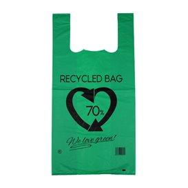 Saco Plastico 70% Reciclado Verde 42x53cm 50µm (50 Uds)