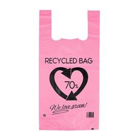 Saco Plastico 70% Reciclado Rosa 42x53cm 50µm (50 Uds)