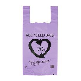 Saco Plastico 70% Reciclado Lilás 42x53cm 50µm (50 Uds)
