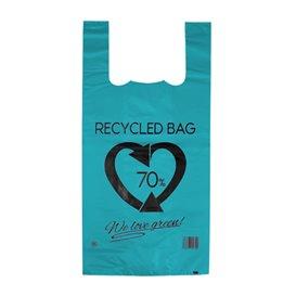 Saco Plastico 70% Reciclado Azul 42x53cm 50µm (50 Uds)