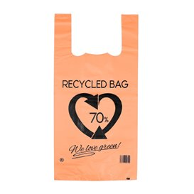 Saco Plastico 70% Reciclado Laranja 42x53cm 50µm (50 Uds)