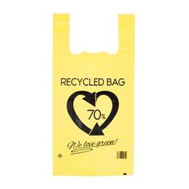 Saco Plastico 70% Reciclado Amarelo 42x53cm 50µm (1.000 Uds)