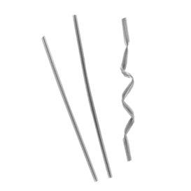 Fecho Práctico para Sacos em Metal Prata 9,5cm (1000 Uds)