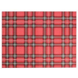 """Toalhete de Mesa de Papel Vermelho """"Glasgow"""" 30x40cm 40g/m² (1.000 Uds)"""