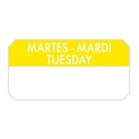 """Rolo Adesivo Retangular """"Tuesday"""" 5x2,5cm (1.000 Uds)"""