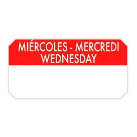 "Rolo Adesivo Retangular ""Wednesday"" 5x2,5cm (1.000 Uds)"