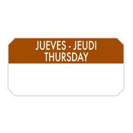 """Rolo Adesivo Retangular """"Thursday"""" 5x2,5cm (1.000 Uds)"""