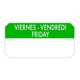"Rolo Adesivo Retangular ""Friday"" 5x2,5cm (1.000 Uds)"