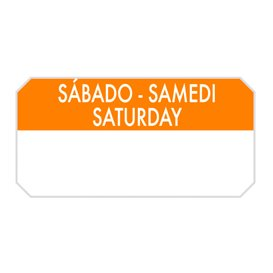 "Rolo Adesivo Retangular ""Saturday"" 5x2,5cm (1.000 Uds)"