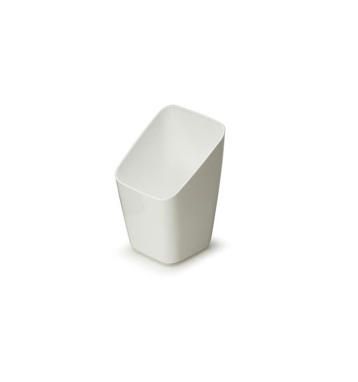 Copo Degustação Plástico Branco 4x4x7cm (20 Uds)