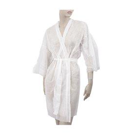 Bata Kimono en TST PP Tiras y Bolso Branco XL (100 Uds)