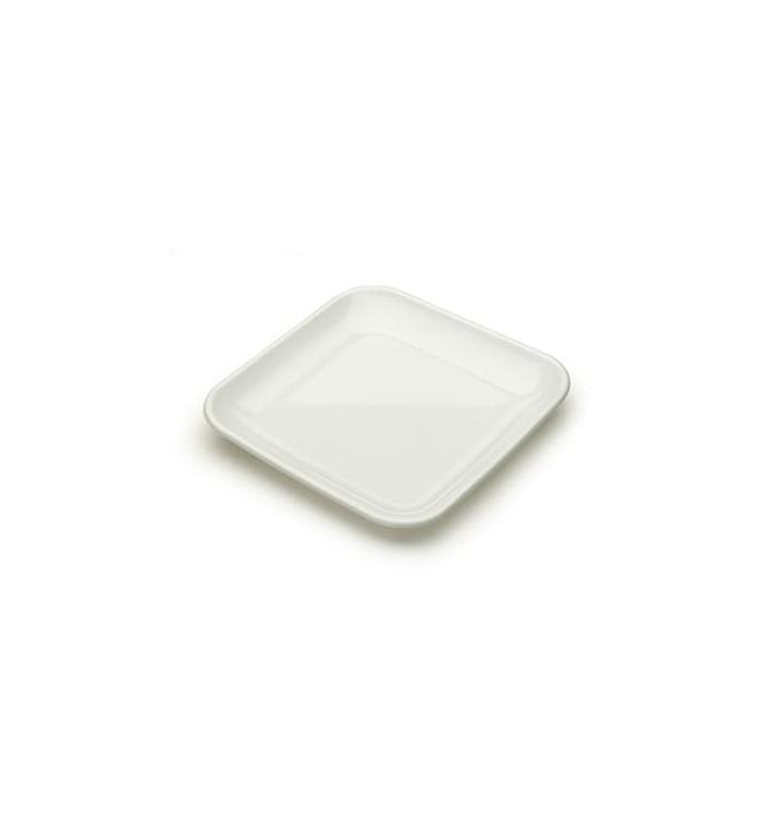 Prato Plastico Degustação Branco 6x6x1cm (200 Uds)