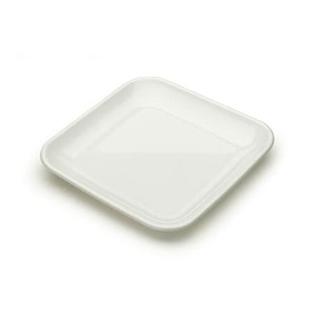 Prato Quadrado Degustação 6,5x6,5cm ( 8 Unidades)
