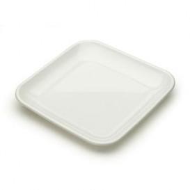 Prato Plastico Degustação Branco 6x6x1cm (50 Uds)