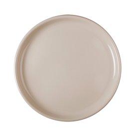 Prato de Plastico para Pizza Bege Round PP Ø350mm (12 Uds)