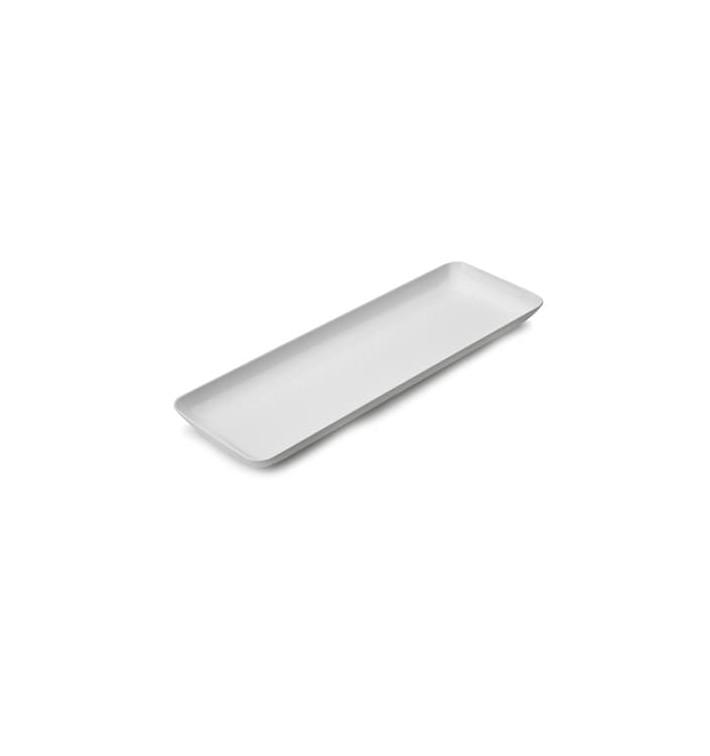 Bandeja Plastico Degustação Branco 6x19cm (20 Uds)