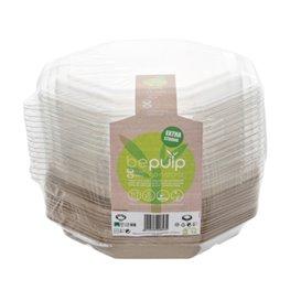 Embalagem Cana-de-açúcar Octogonal com tampas 830 ml 23x23cm (90 Uds)