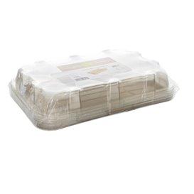 Bandejas Cana-de-açúcar com tampa 46x30x11cm (25 Uds)