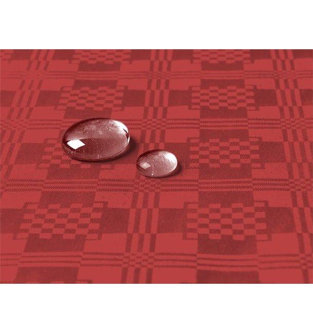 Toalha Papel Plastificado Rolo Vermelho 1,2x5m (10 Uds)