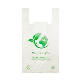 Saco Plastico Alça Biodegradável 100% 40x50 cm (100 Uds)