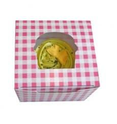 Caixa 1 Cupcake Rosa 11x10x7,5cm (200 Unidades)