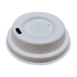 Tampa com Furo de Fibra Moldada Branco Ø6,2cm (50 Uds)