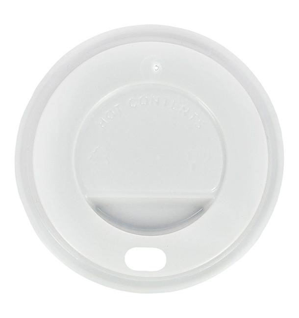 Tampa Perfurada Copo Branco 4Oz/120 ml Ø6,2cm (100 Uds)