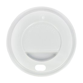 Tampa Perfurada para Copo 7Oz Branca Ø7,2cm (1000 Uds)