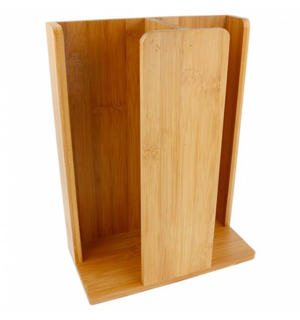 Organizador de Copo e Tampa de Bambu 23x12x30cm (1 Ud)