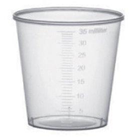 Copo de Plástico Graduado PP Transp. 35 ml (50 Uds)