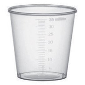Copo de Plástico Graduado PP Transp. 35 ml (2000 Uds)