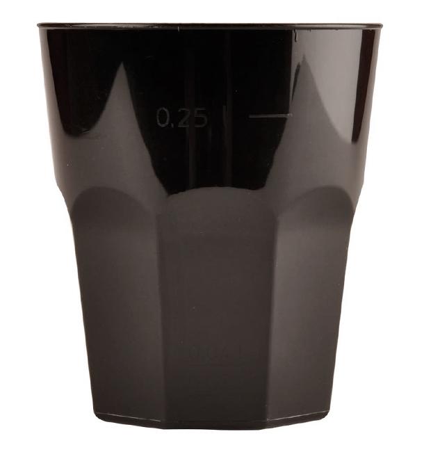 Copo Plastico para Coctel Preto PP Ø84mm 270ml (20 Uds)
