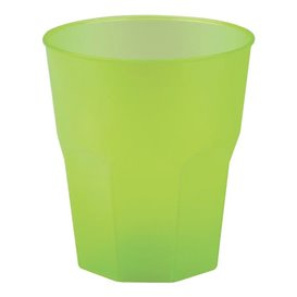 "Copo Plastico ""Frost"" Verde Limão PP 270ml (20 Uds)"