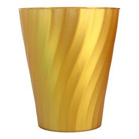 """Copo de Plastico PP """"X-Table"""" Ouro 320ml (128 Unidades)"""